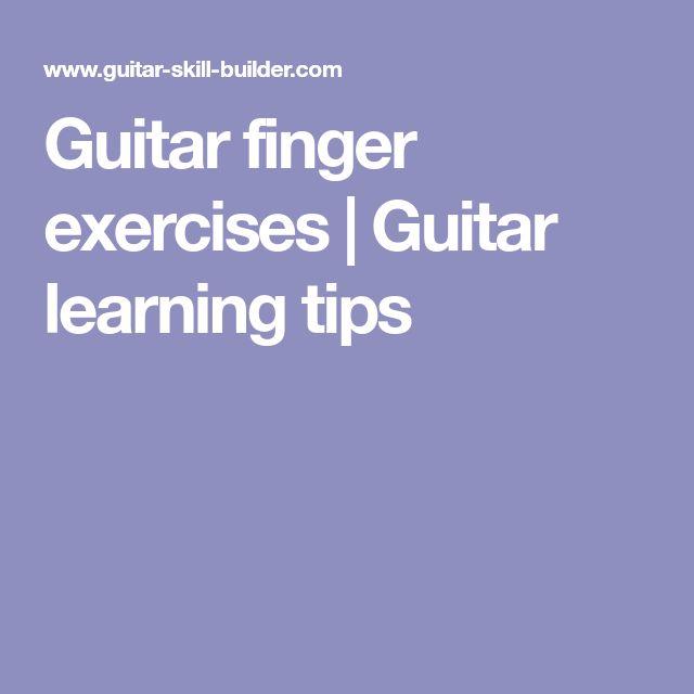 Guitar finger exercises | Guitar learning tips