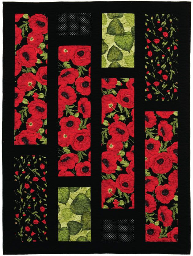 Quilt Patterns With Floral Fabric : 128 best images about Poppy quilts on Pinterest