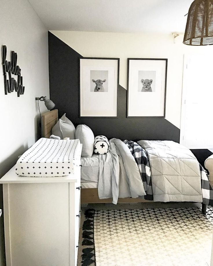 Black And White Boys Room: Cute Black And White Children's Bedroom Ideas