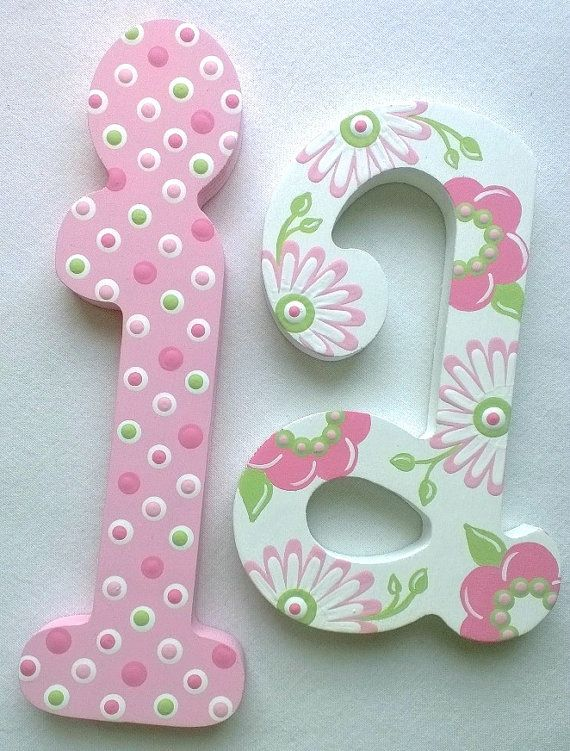 Wooden Letters Nursery Letters Playroom Letters Wedding