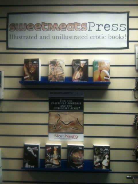 Great display of Sweetmeats books at Nice 'n' Naughty!! - Thanks guys :-)