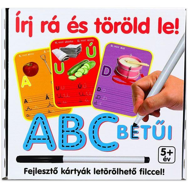 Írj rá és töröld le: ABC betűi fejlesztő kártyák - . kép