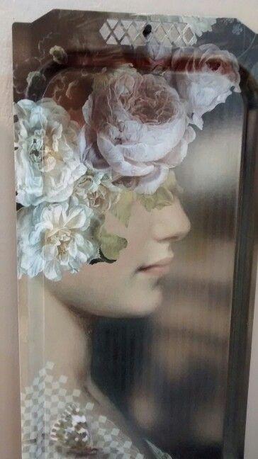 #vintage #renaissance #flowers #portrait #profile