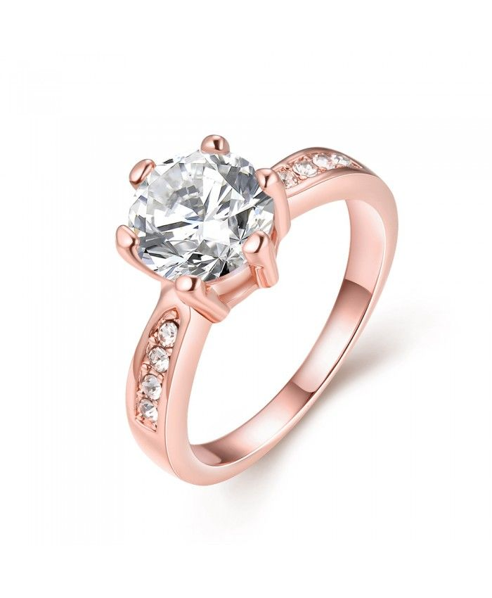 Nickle Free Antiallergic Rose Gold Plated Ring New Fashion High Quality Jewelry R023-8