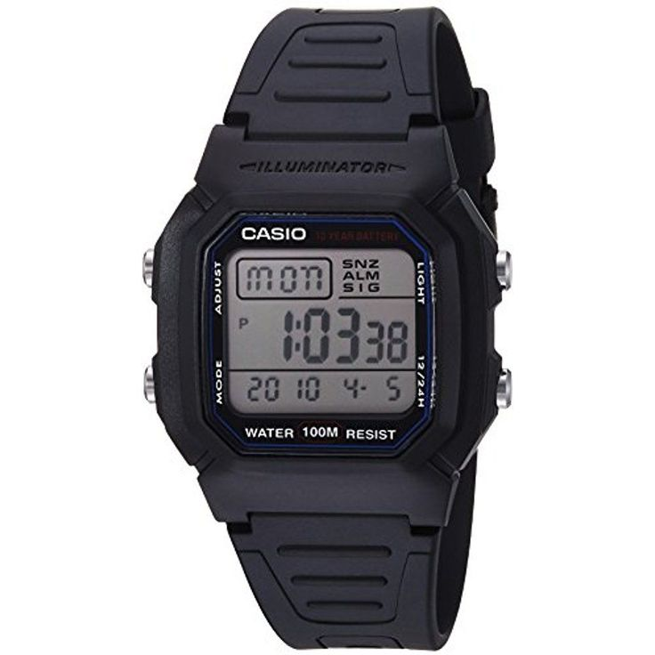 Casio Classic Mens Sport Watches with Black Band 100M Water Resistant Battery  #Casio #Sport