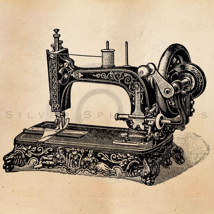 Vintage Sewing Machine Illustration Printable 1800s Machines Antique Print Instant Download Clip Art Retro Black and White Drawing ZS by SilverSpiralStudio on Etsy https://www.etsy.com/listing/201685228/vintage-sewing-machine-illustration