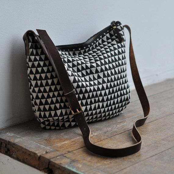 DAY BAG  triangle by bookhouathome on Etsy, $70.00