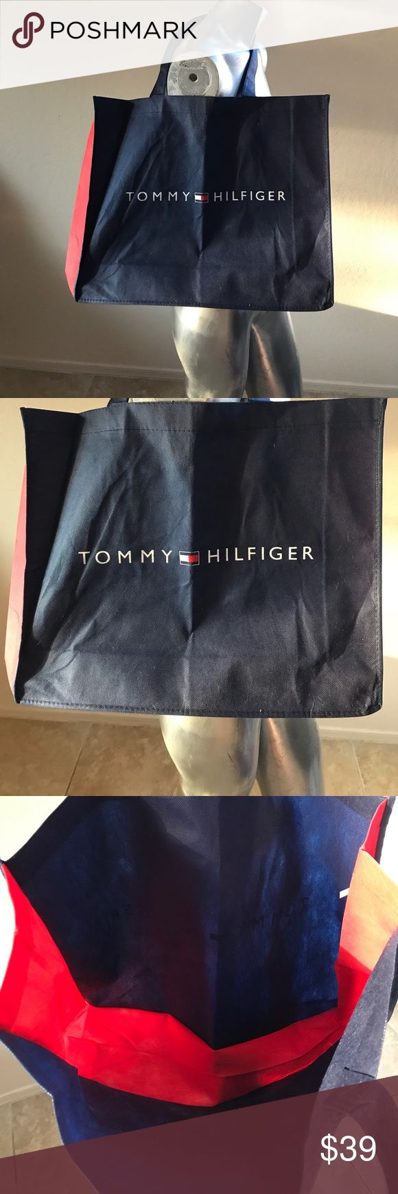 "New Tommy Hilfiger Tote Bag New without tags Tommy Hilfiger tote bag, measures 19"" wide by 15"" long, canvas Tommy Hilfiger Bags Totes"