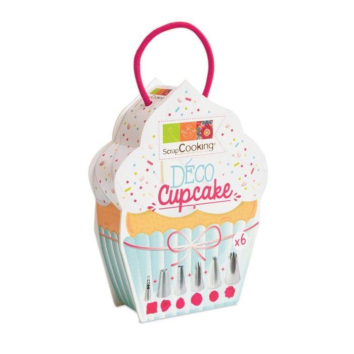 Boite de 6 douilles en inox pour réaliser des glaçages de formes variées et magnifier vos cupcakes et autres desserts gourmands - Youdoit.fr
