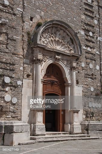 A main portal of the Church of St. Servolo - A baroque church... #buje: A main portal of the Church of St. Servolo - A baroque… #buje