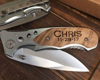 Groomsmen Knives, Groomsman Gift, Personalized Engraved Knife, Custom Knife, Wedding Favors, Gifts for Groomsmen