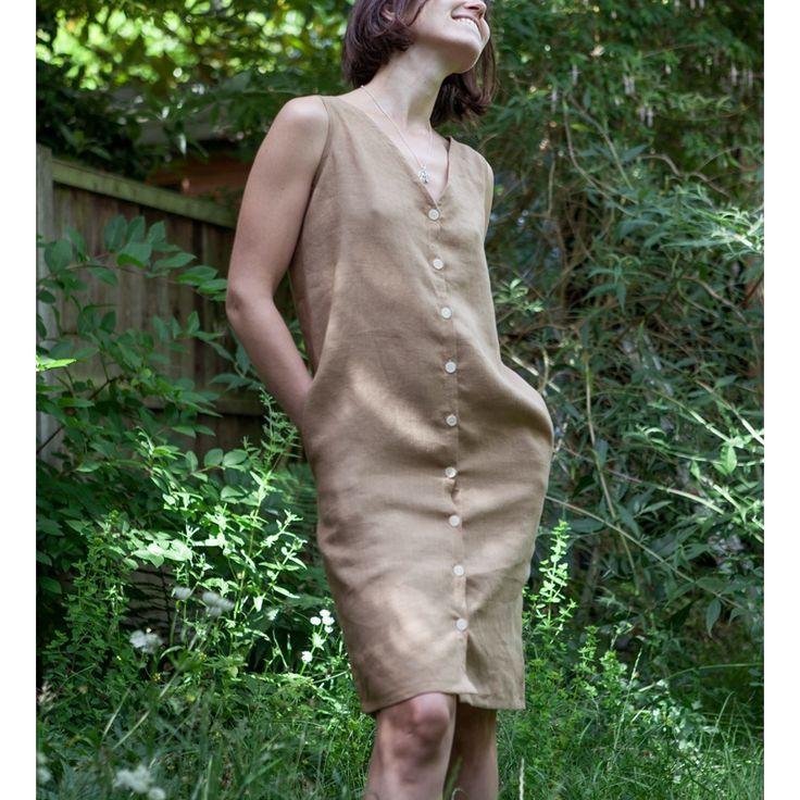 λινο φορεμα με κουμπια και πατρον, ραψτε μόνες σας φορεμα καλοκαιρινο, λινο με αναλυτικες οδηγιες ραπτικης για αρχαριους, tutorial