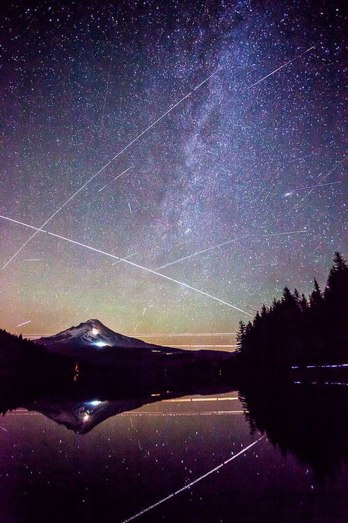 Perseid Meteor Shower - Trillium Lake, Mt. Hood, Oregon