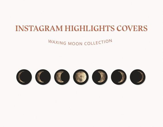 instagram highlight covers waxing moon stories icons instagram