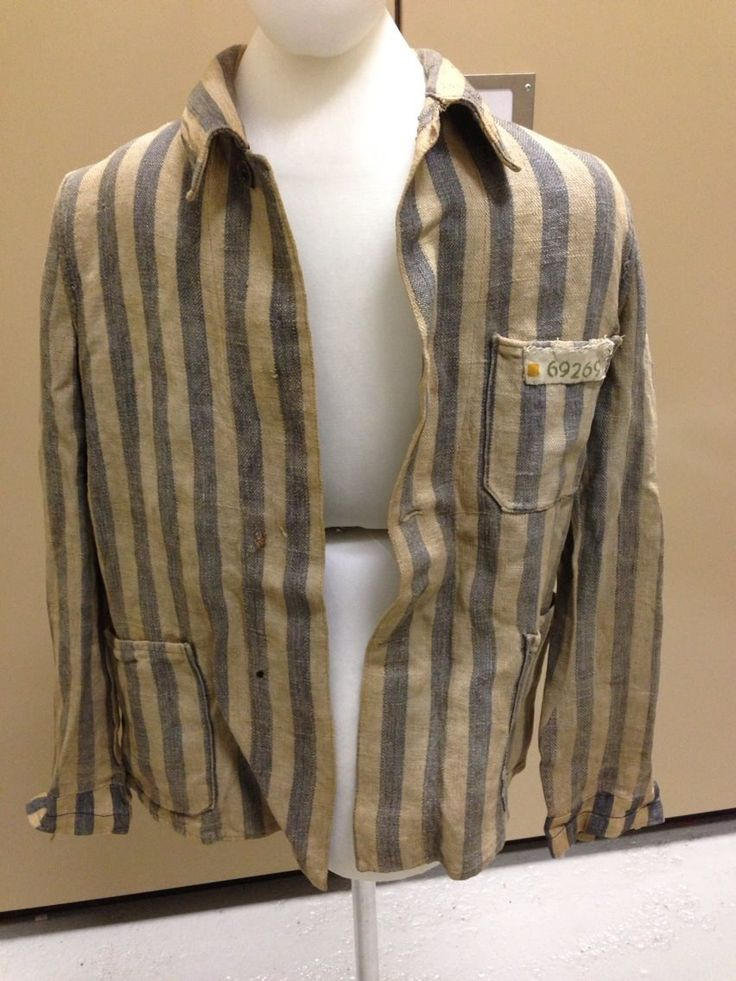 Jacket worn by Adolph Radziwiller in various concentration camps.