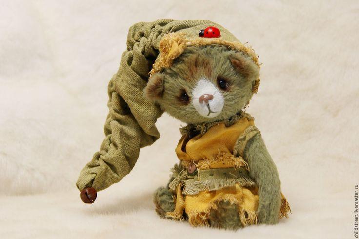 Купить Лесной гномик Мася))) мишка Тедди - оливковый, мишка, мишка тедди