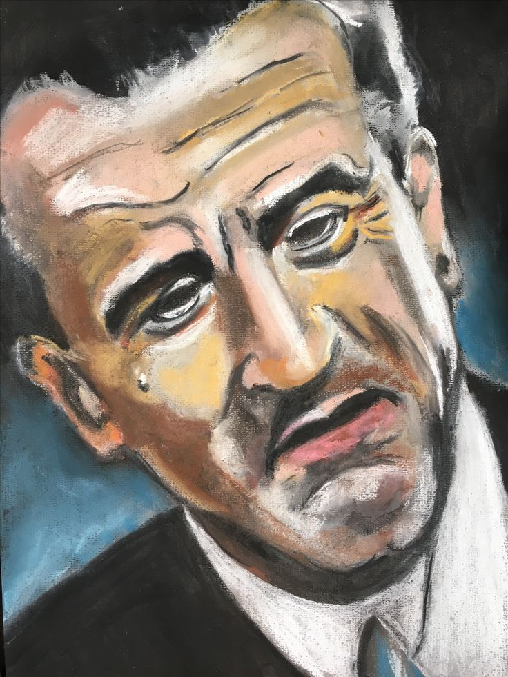 A pastel portrait I did of Robert De Niro in a scene from the movie 'Goodfellas'.
