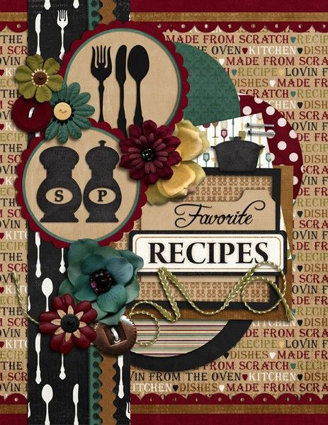 Family Cookbook Cover Ideas : Best images about scrapbook cookbook ideas on