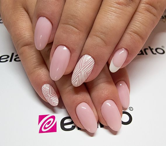 Created by: -Lacogel 412: https://elarto.pl/lakier-hybrydowy-kolorowy-z-brokatem/7119-elarto-lakier-hybrydowy-lakierozel-kolorowy-lacogel-hybrid-nail-color-nr-412-rozowy-pastel-15ml.html -Cover Pink: https://elarto.pl/zel-kamuflaz-cover/4713-elarto-zel-sredniogesty-rozowy-kamuflaz-15-g.html -Ultra White Gel Paint: https://elarto.pl/zel-bialy-do-french-zdobien/14273-elarto-zel-bialy-ultra-white-gel-paint.html  Justyna by elarto.
