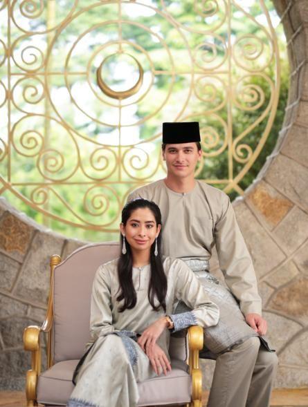 Johor princess Tunku Aminah and Dennis Muhammad Abdullah
