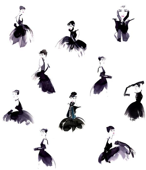Audrey-hepburn-the-little-black-dress-illustration