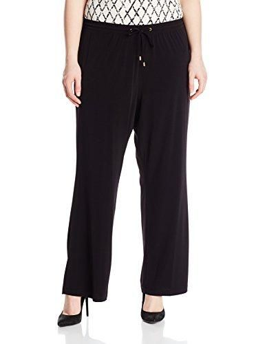 37503c420353f2 Calvin Klein Women's Plus Size Jersey Wide Leg Pant, Black, 1X ...