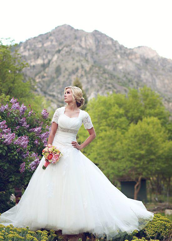239 best modest wedding gowns images on pinterest modest for Elegant modest wedding dresses