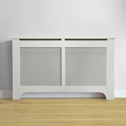 Richmond Radiator Cabinet - Smooth White - (W)150 x (H)90 x (D)20cm