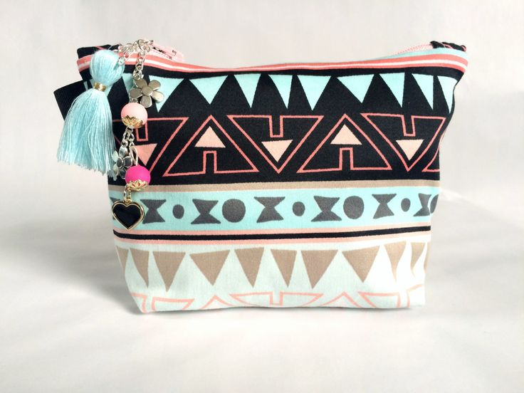 Western Makeup Bag: Charm Included by strawberriesncreamm on Etsy