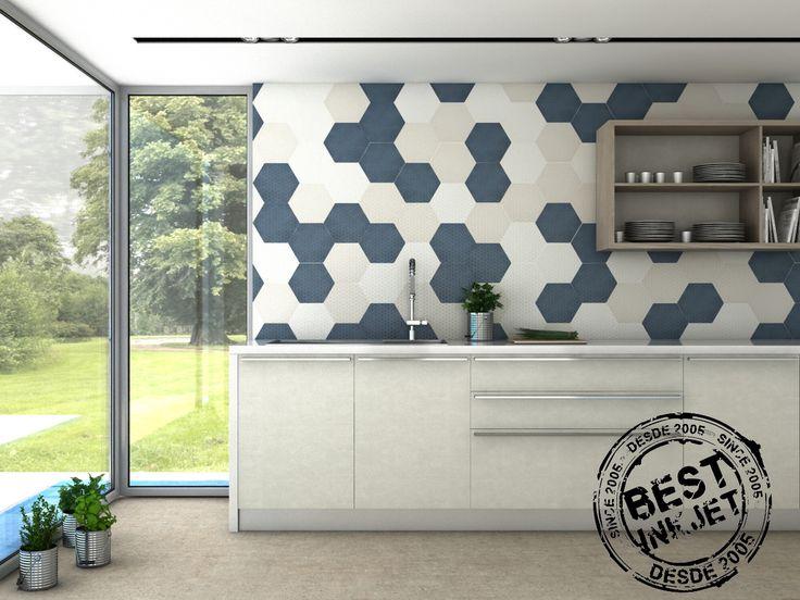 TOSCANA GARDEN, pieza hexagonal de formato 26x29 porcelánico