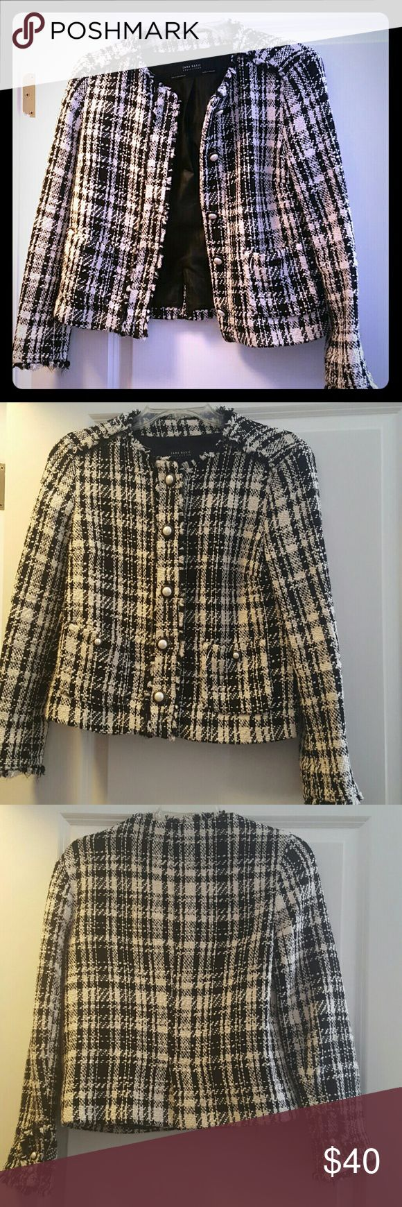 Jacket Perfect to pair with a black dress for work or leather pants to get drinks with friends. Only worn once. Price is negotiable. Zara Jackets & Coats