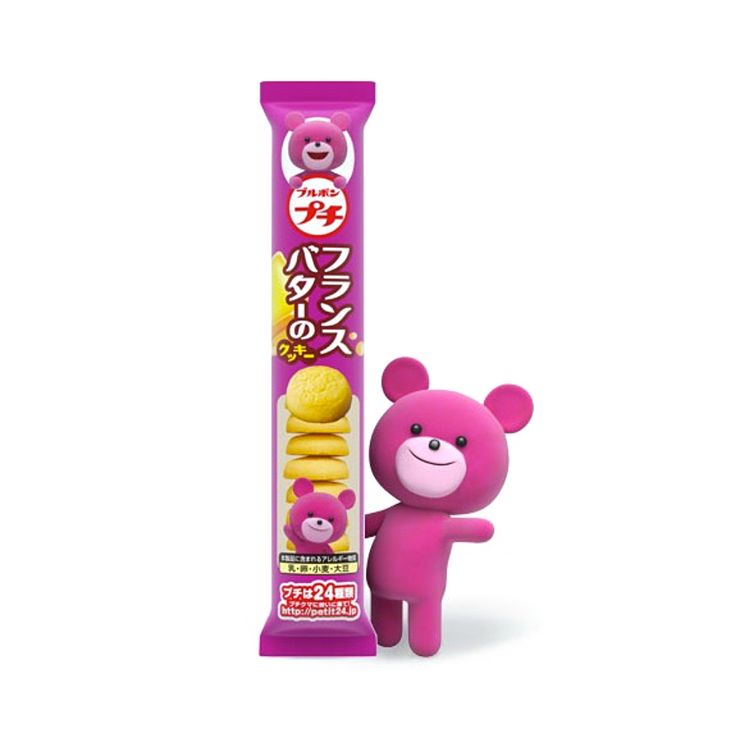 Buy in bulk and save! Bourbon's Petit Series is one of the most popular and fun Japanese snack products. This product is PetitFrench Butter Cookies, a perfect choice for morning and afternoon tea!Each product of the Petit Series is supportedby a different Petit Bear - See French Butter Petit Bear so cutely smiles at youon the package (*the bear is not part of this product)!Enjoy your petit afternoon tea adventure with Bourbon Petit French Butter.  Producer:Bourbon ブルボン Country of…