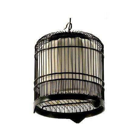 Lámpara jaula de madera Ancho 40 / Fondo 40 / Alto 70