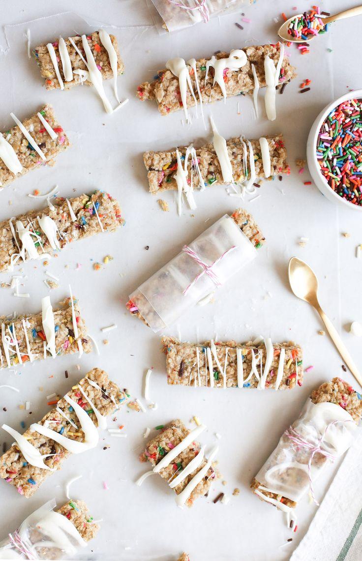 Funfetti Granola Bars - Sugar & Cloth