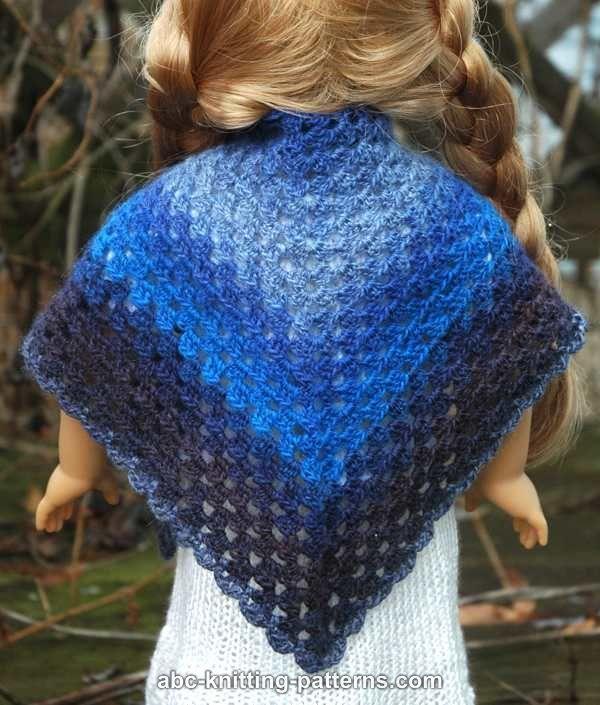 Knitting Pattern For Dolls Shawl : ABC Knitting Patterns - American Girl Doll (Granny Shawl ...