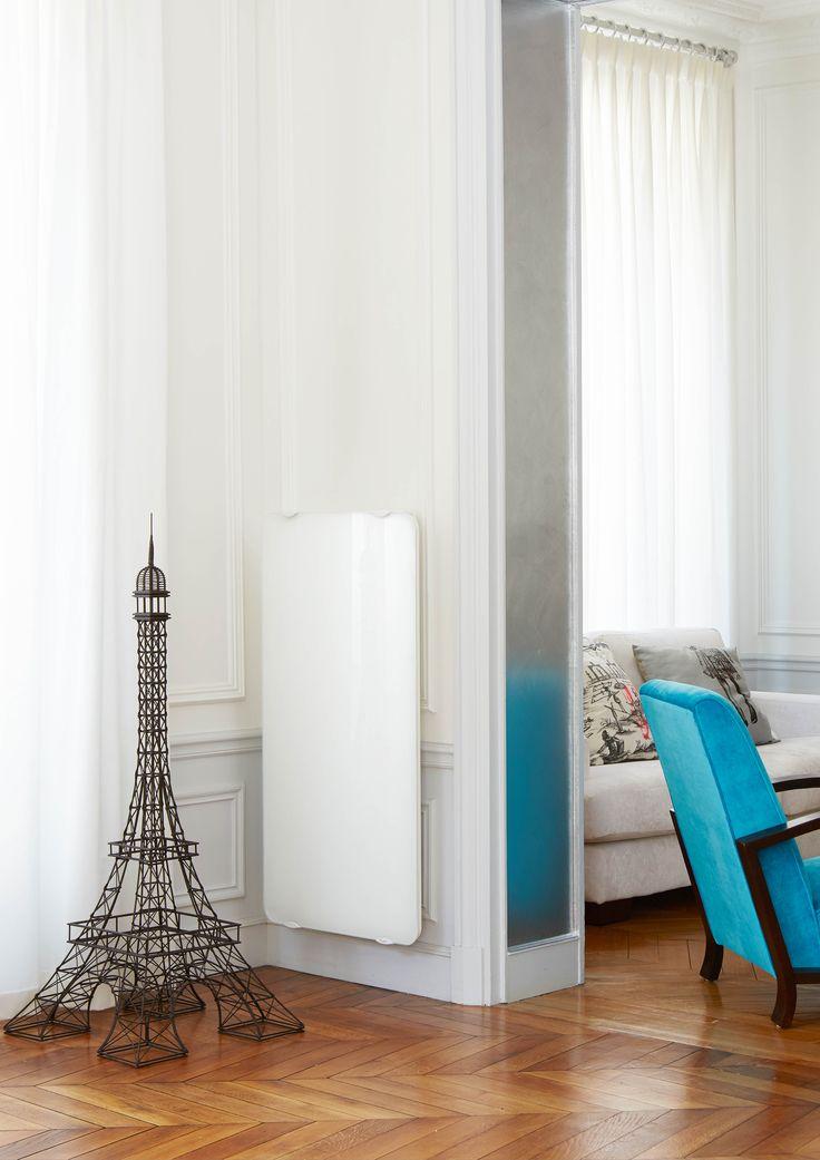 campaver ultime radiateur inertie en glace de verre massive w couleur lys blanc with radiateur steatite brico depot