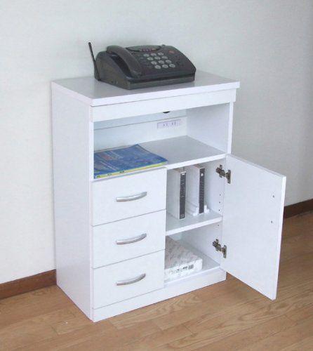 Amazon.co.jp: ランスタンドFAX台 電話台 (LAN 電源タップ ケーブル 収納機能付) ファックス台 モデム収納 ルーター収納 プリンター台 21326: Home & Kitchen