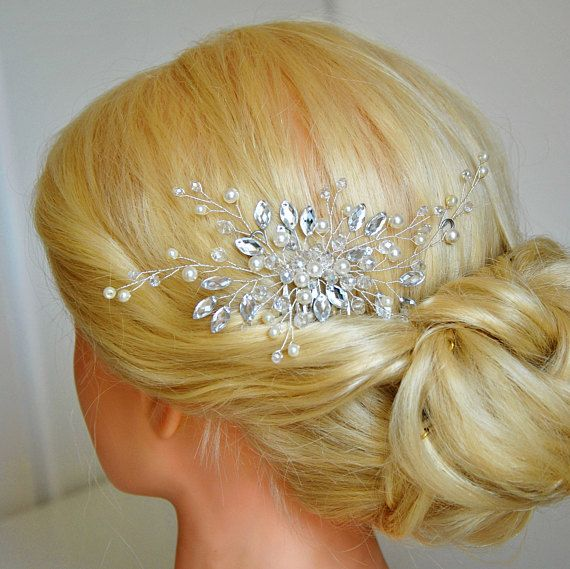 Check out this item in my Etsy shop https://www.etsy.com/listing/560435006/bridal-hair-piece-wedding-hair-brooch