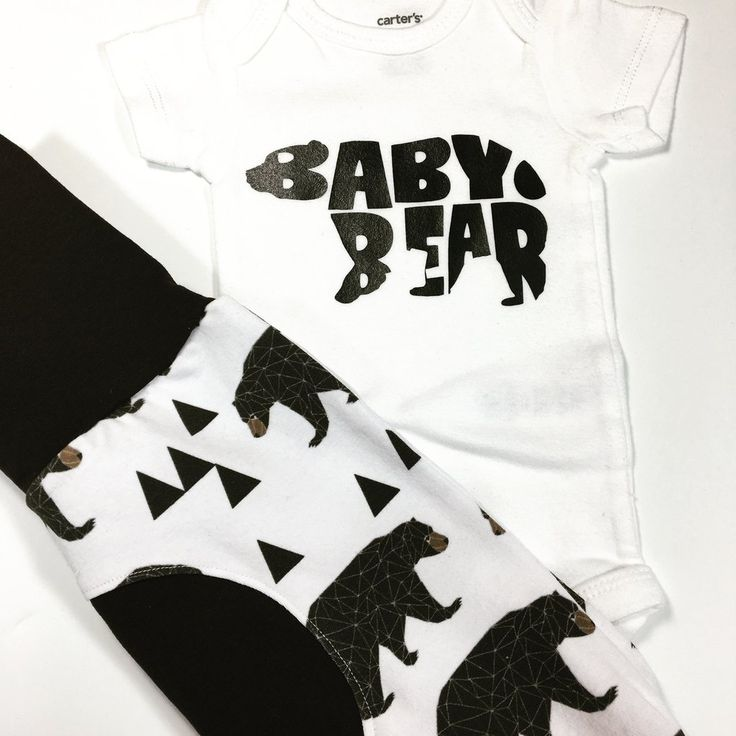 Baby Gift Set with Grow Along Pants and Matching Bodysuit Baby Bear