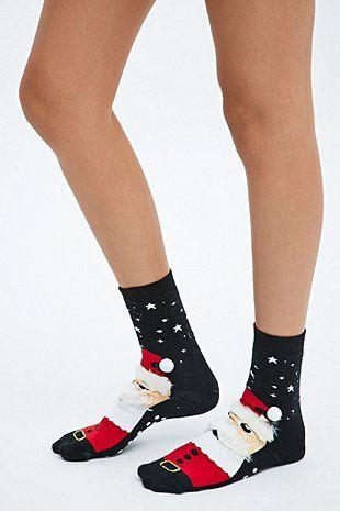 Socken im Weihnachtsmann-Design - Urban Outfitters