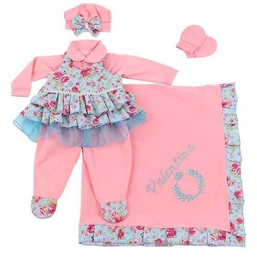 467ed6636 Saida Maternidade Paraiso Bebê Menina Luxo Macacao Cod 7574 - R$ 149,99 em