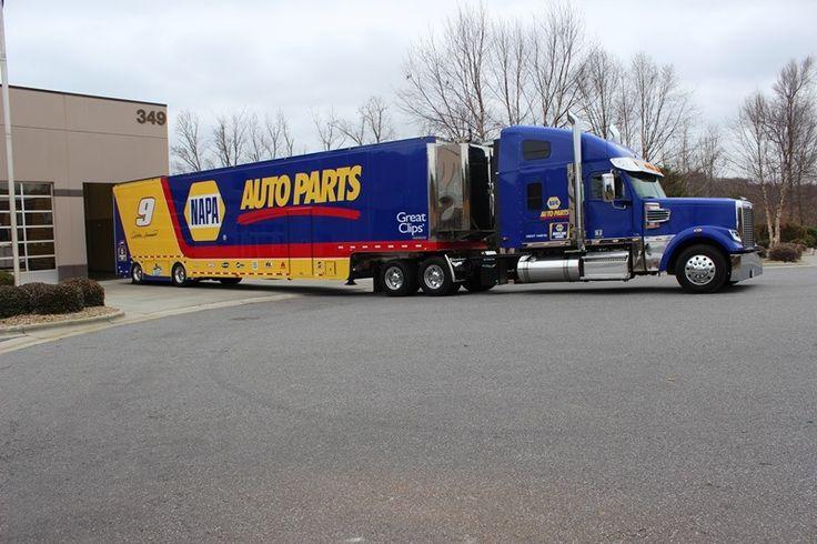 Napa Tractor Parts : Chase elliott s napa auto parts hauler at jr motorsports