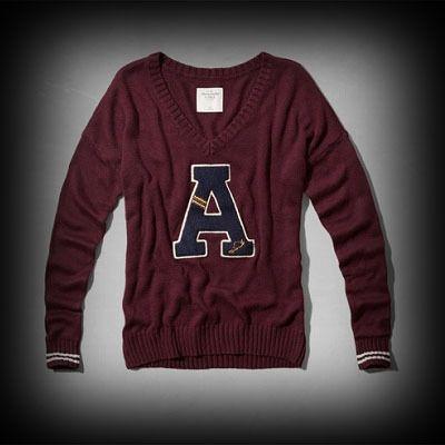 アバクロ レディース ニット Abercrombie&Fitch Bella Sweater セーター ★チルデンニットが再ブーム!かわいさの中に大人の上品さや可愛さをプラス♪ ★ヴィンテージウォッシュがコーディネイトしやすくて個性的な古着っぽい味がでてお洒落。