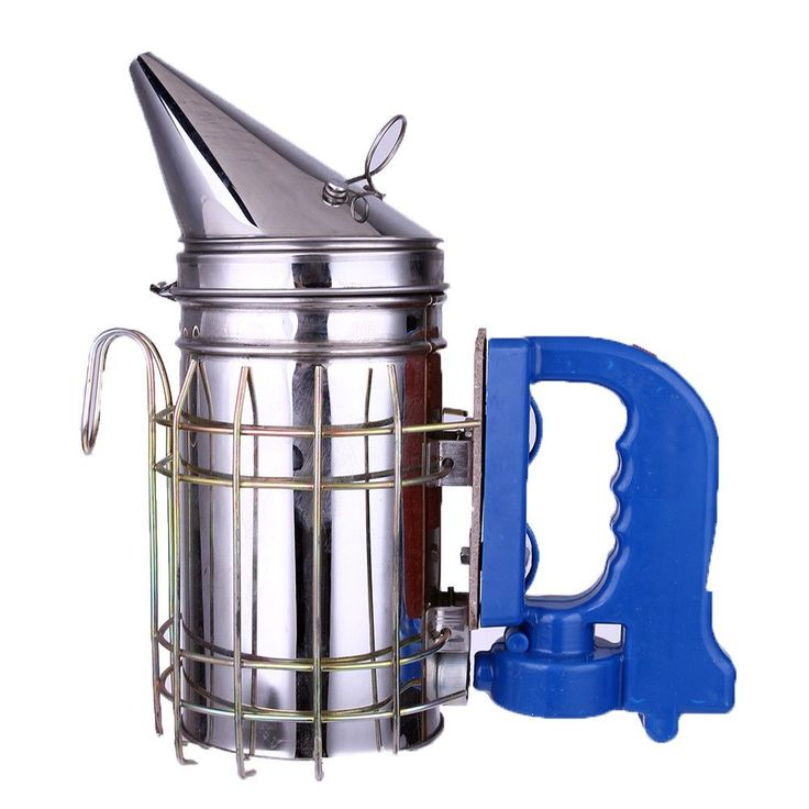 Cool Smokin' Electronic Stainless Steel Bee Smoker with Stay Cool Plastic Handle and cage -USB or battery powered