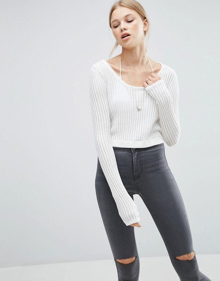 Cheap Monday Grid Knit Sweater - Green
