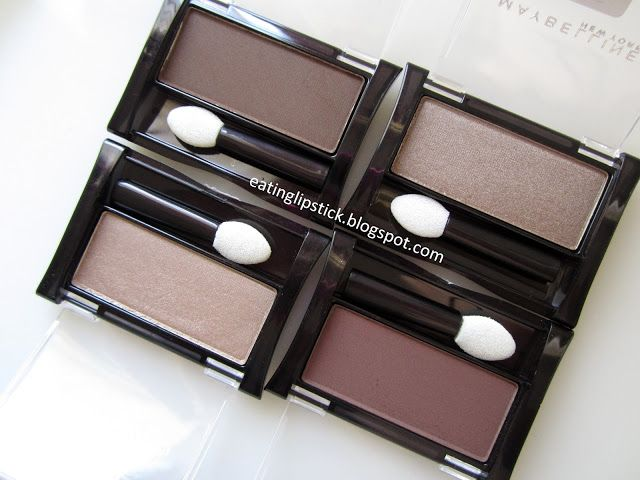 Maybelline Expert Wear Single Eyeshadows: Silken Taupe, Nutmeg, Tastefully Taupe, and Made For Mocha
