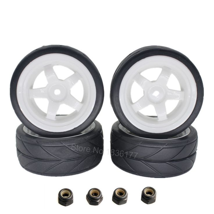 4pcs 12mm RC Car Tires Wheels 1/10 On Road Car 12mm Hex with Sponge For HSP HPI Spare Parts