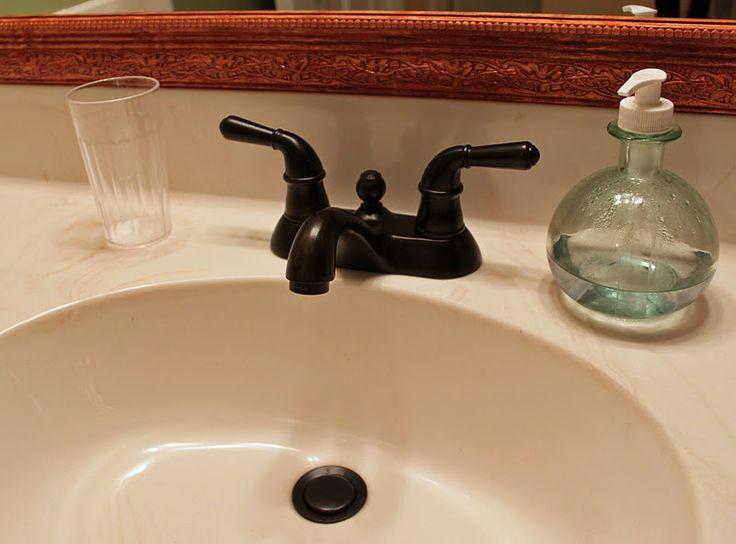 Diy Kinda Girl Painting The Faucet Bathroom Pinterest