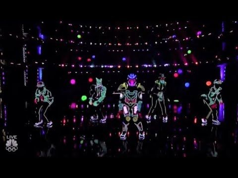 awesome Light Balance: This Light-Dance Group Hit It OUT OF THE PARK!! America's Got Talent 2017