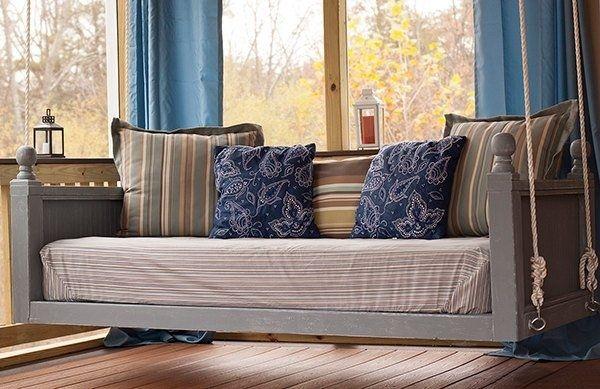 Für die geschlossene Veranda - Blau und Pastell Farben